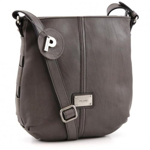 Picard Rail Schultertasche Leder taupe