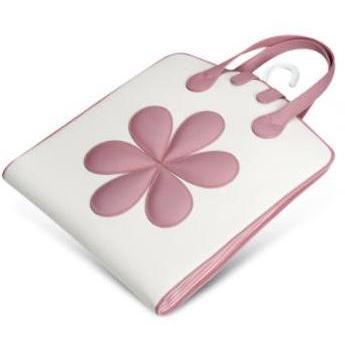 Pineider Baby Kleidersack mit Blumen in rosa