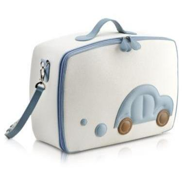 Pineider Blaues Auto- Mini-Reisetasche
