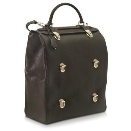 Pineider Dreifach-Tasche mit Multilevel -Verschluss aus Leder