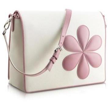 Pineider Messengertasche mit pinken Blumen