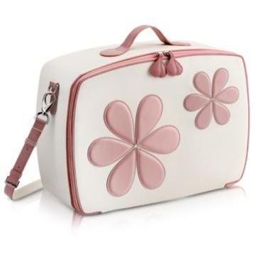 Pineider Mini-Reisetasche mit pinken Blumen