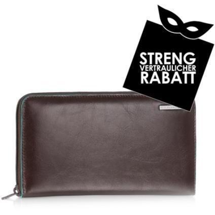 Piquadro Blue Square - Brieftasche mit Rundum-Reißverschluss aus Leder