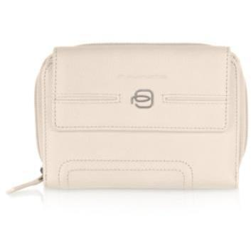 Piquadro Vibe - Brieftasche aus Leder Weiß