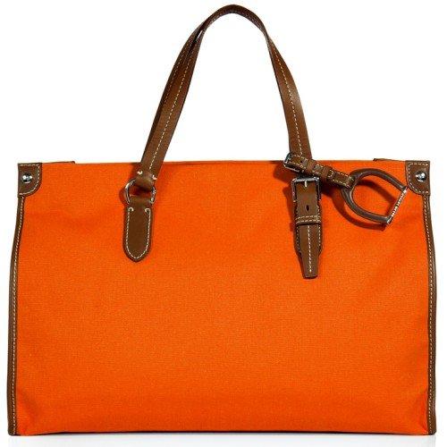Polo Ralph Lauren Orange Flat Handle Tote Bag