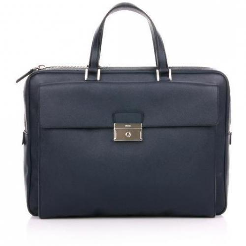 Prada Dark Blue Saphiano Leather Bag