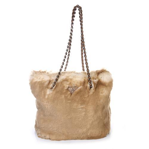 Prada Handtasche Eco Pelliccia Shopping Cipria