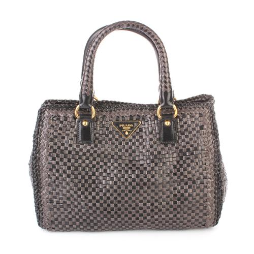 Prada Shopper Madras Bag