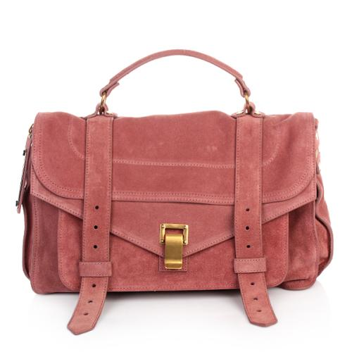 Proenza Schouler PS1 Medium Velours Antique Pink