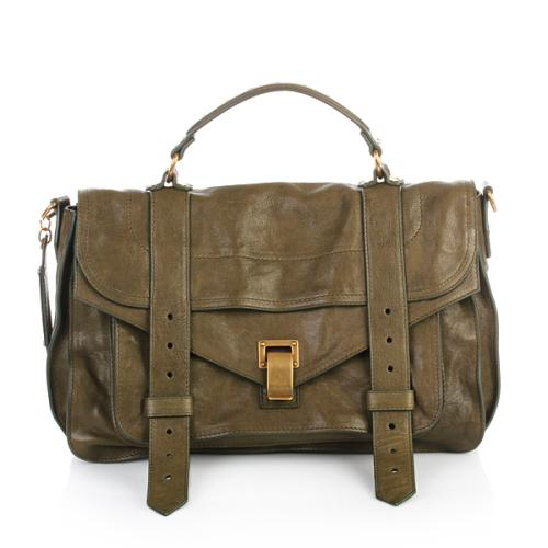 Proenza Schouler PS1 Medium Lux Leather Military