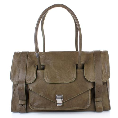 Proenza Schouler PS1 Keep All Large Leather Military