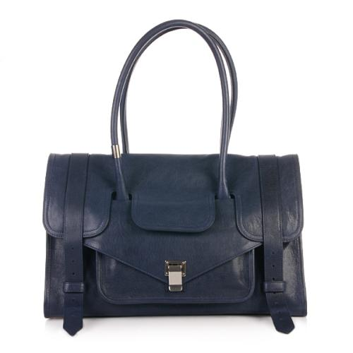Proenza Schouler PS1 Keep All Small Lux Leather Midnight