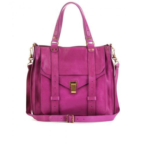 Proenza Schouler Ps 1 Lederhenkeltasche Violett/Lila
