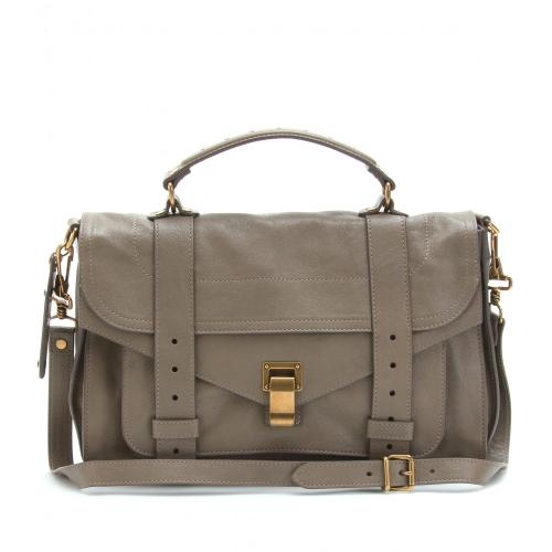 MULTIFEED_START_13_Proenza Schouler Ps1 Medium Ledertasche Grau/MetallicMULTIFEED_END_13_