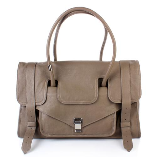 Proenza Schouler PS1 Keep All Large Leather Smoke