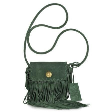 Ralph Lauren Collection Crossbody Tasche aus Wildleder mit Fransen