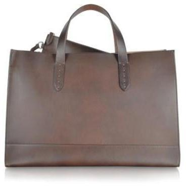 Ralph Lauren Collection Saddle - Handtasche aus Leder Braunschwarz