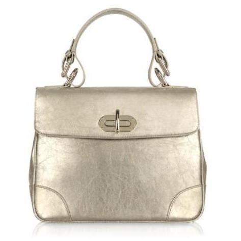Ralph Lauren Collection Small Tiffin - Ledertasche in silber