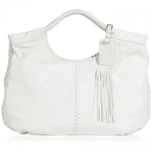 Ralph Lauren Collection White Double Handle Hobo