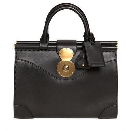 Ralph Lauren - Polo Top Tasche Weiche Leder Handtasche