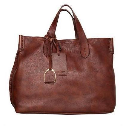 Ralph Lauren - Weiche Textured Vintage Leder Tasche