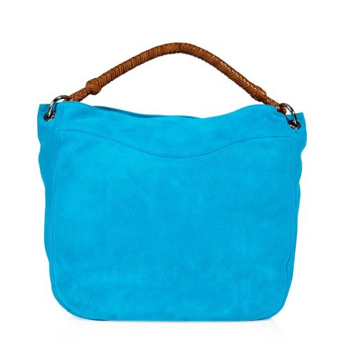 Ralph Lauren Collection Turquoise Suede Bohemian Hobo