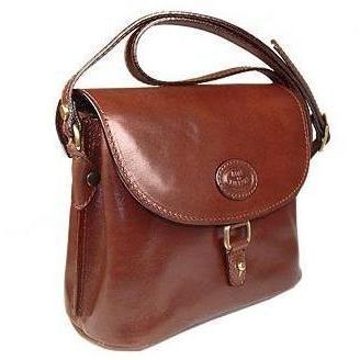Robe di Firenze Klassische braune Handtasche aus Leder