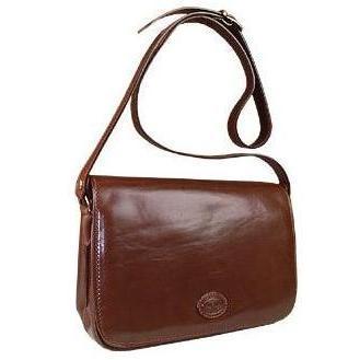 robe di firenze klassische braune handtasche aus leder braun. Black Bedroom Furniture Sets. Home Design Ideas