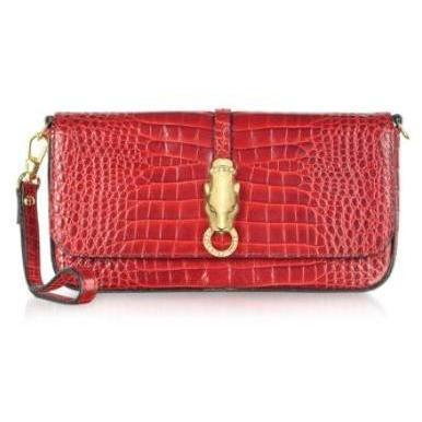 Roberto Cavalli Class - Handtasche aus krokogeprägtem Leder