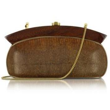Rocio Elizabeth Golden Brown - Reptile Clutch