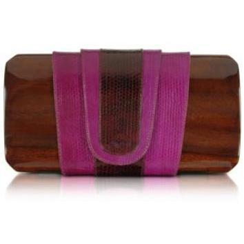 Rocio Fiorentina - Purple Snake Clutch