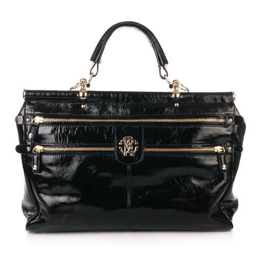 Roberto Cavalli Diva Bag Lack Black