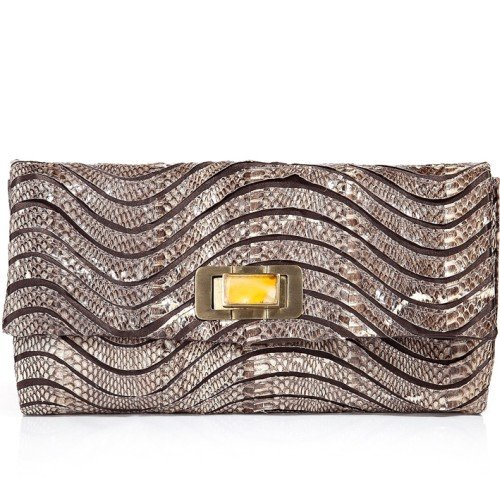 R&Y Augousti Natural Cobra Clutch