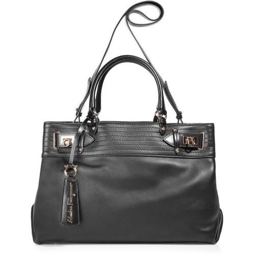 Salvatore Ferragamo Black Bag with Shoulder Strap