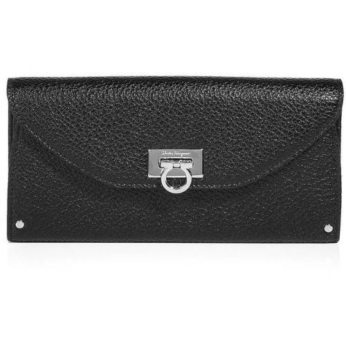 Salvatore Ferragamo Black Leather Wallet