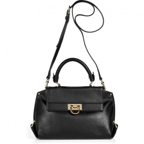Salvatore Ferragamo Black Sofia Crossbody Bag