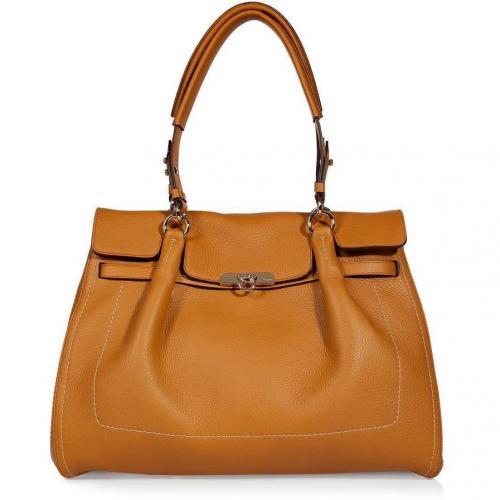 Salvatore Ferragamo Orange Fara Shoulder Bag
