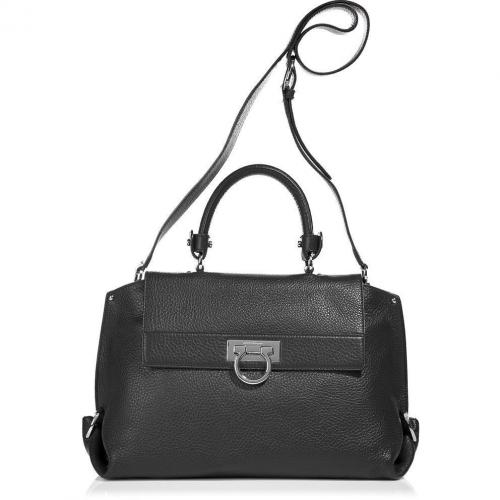 Salvatore Ferragamo The Sofia Black Satchel Bag