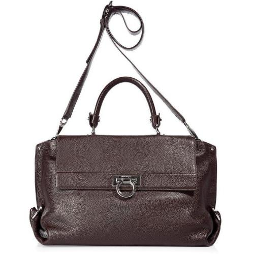Salvatore Ferragamo The Sofia Dark Brown Satchel Bag