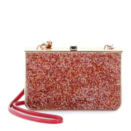 Salvatore Ferragamo Edith Boxclutch Gelb/Orange/Rot