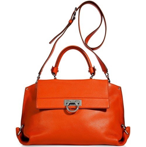 Salvatore Ferragamo Sofia Tasche Orange mit Tragegurt