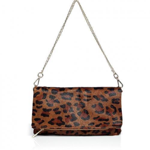 Sandro Leo-Print Calf Hair Bag