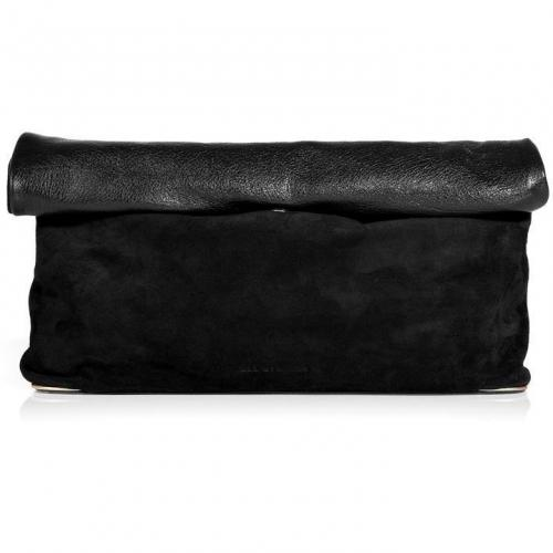 See by Chloe Black Annette Suede/Leather Clutch