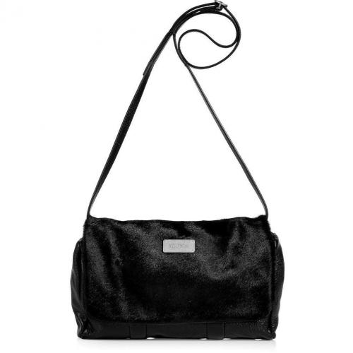 See by Chloe Black Haircalf/Leather Apolline Clutch