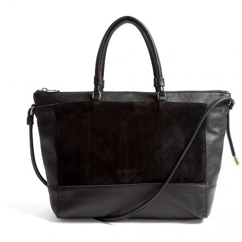 See by Chloe Double Function Suede & Leather Tote