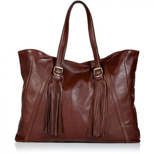 See by Chloe Mahogany Fringe Shoulder Bag