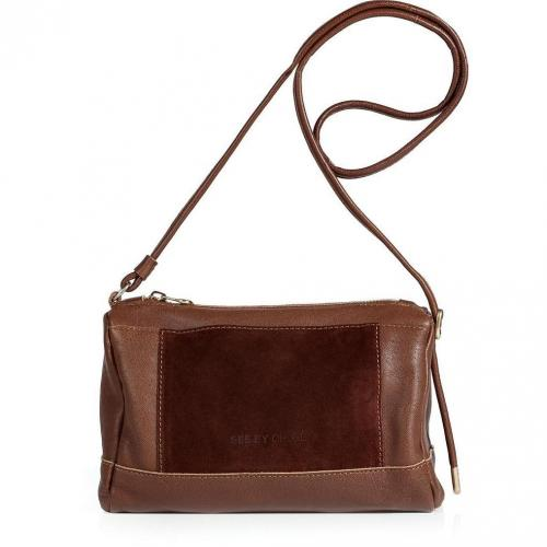 See by Chloe Mocha Leather and Suede Crossbody Bag