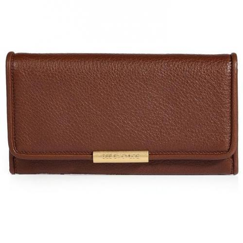 See by Chloe Mocha Leather Wallet