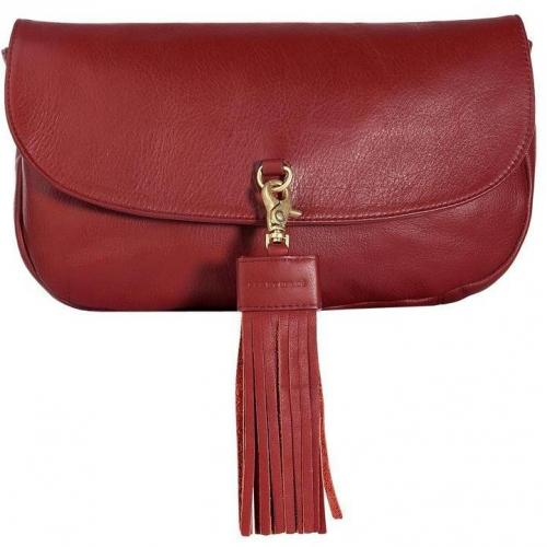 See by Chloe Rust Leather Albertine Clutch