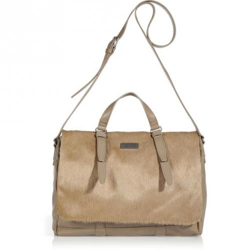 See by Chloe Sand Haircalf/Leather Apolline Zippered Schoolbag